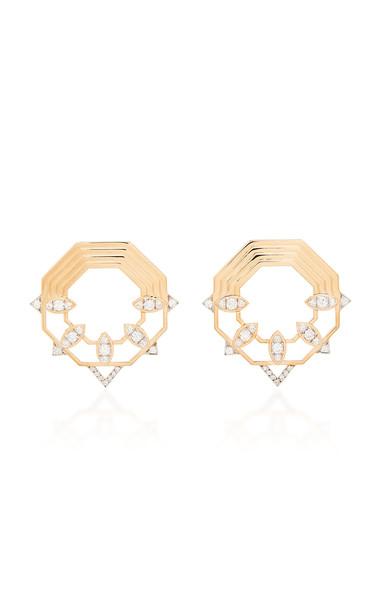 Melis Goral Mars 14K Rose Gold Diamond Earrings
