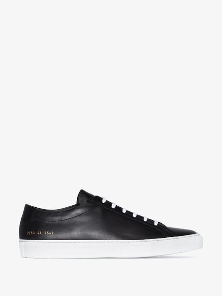 Common Projects Black Achilles leather low top sneakers