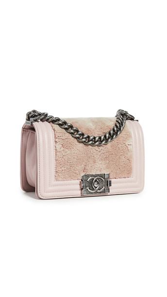 What Goes Around Comes Around Chanel Lady Lapin Boy Small Bag in pink