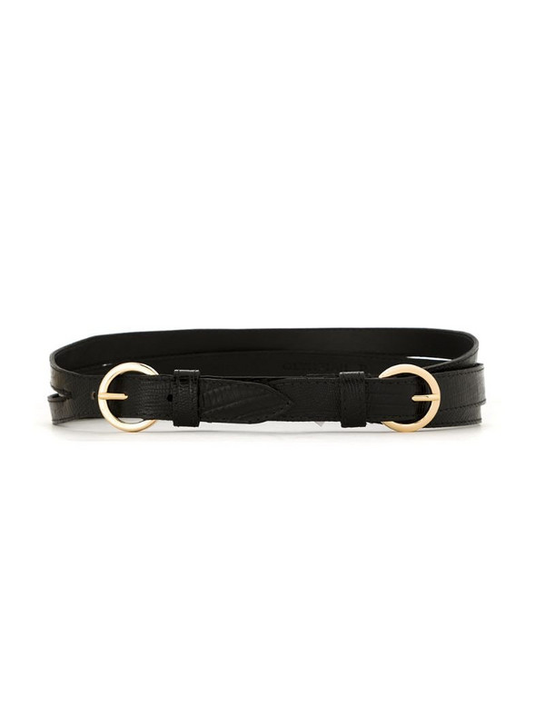 Olympiah Mix leather belt in black