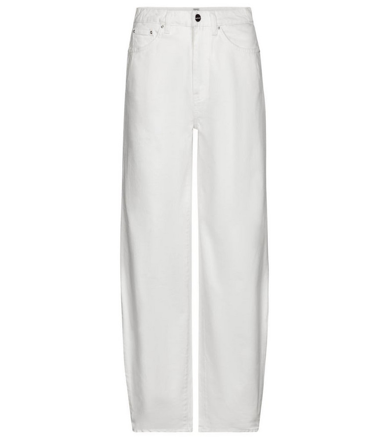 Toteme Exclusive to Mytheresa – High-rise barrel-leg jeans in white