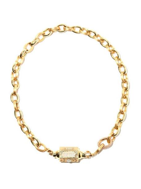 Marie Lichtenberg - Rosa Diamond & 10kt Gold Chain Choker - Womens - Yellow Gold