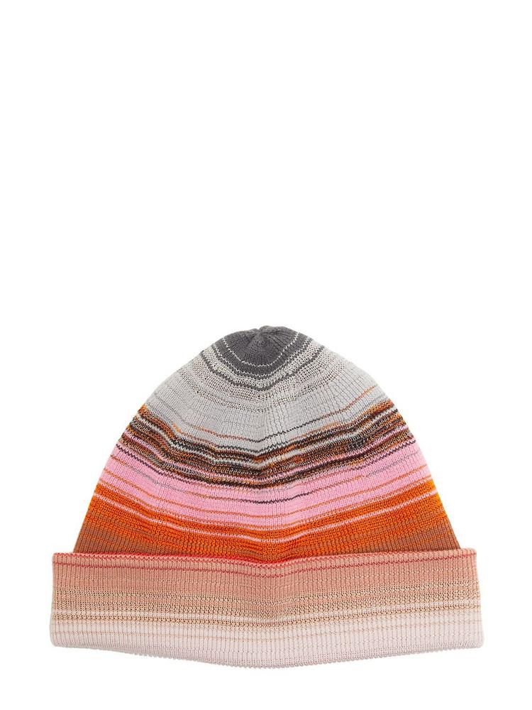 MISSONI Striped Wool & Viscose Knit Beanie