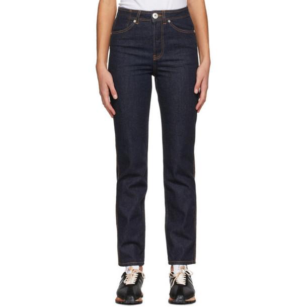 Lanvin Navy Cropped Jeans