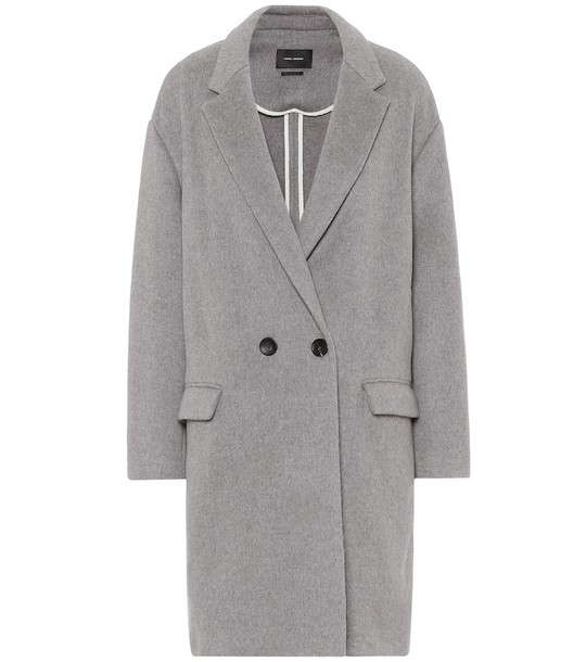 Isabel Marant Filipo wool and cashmere coat in grey