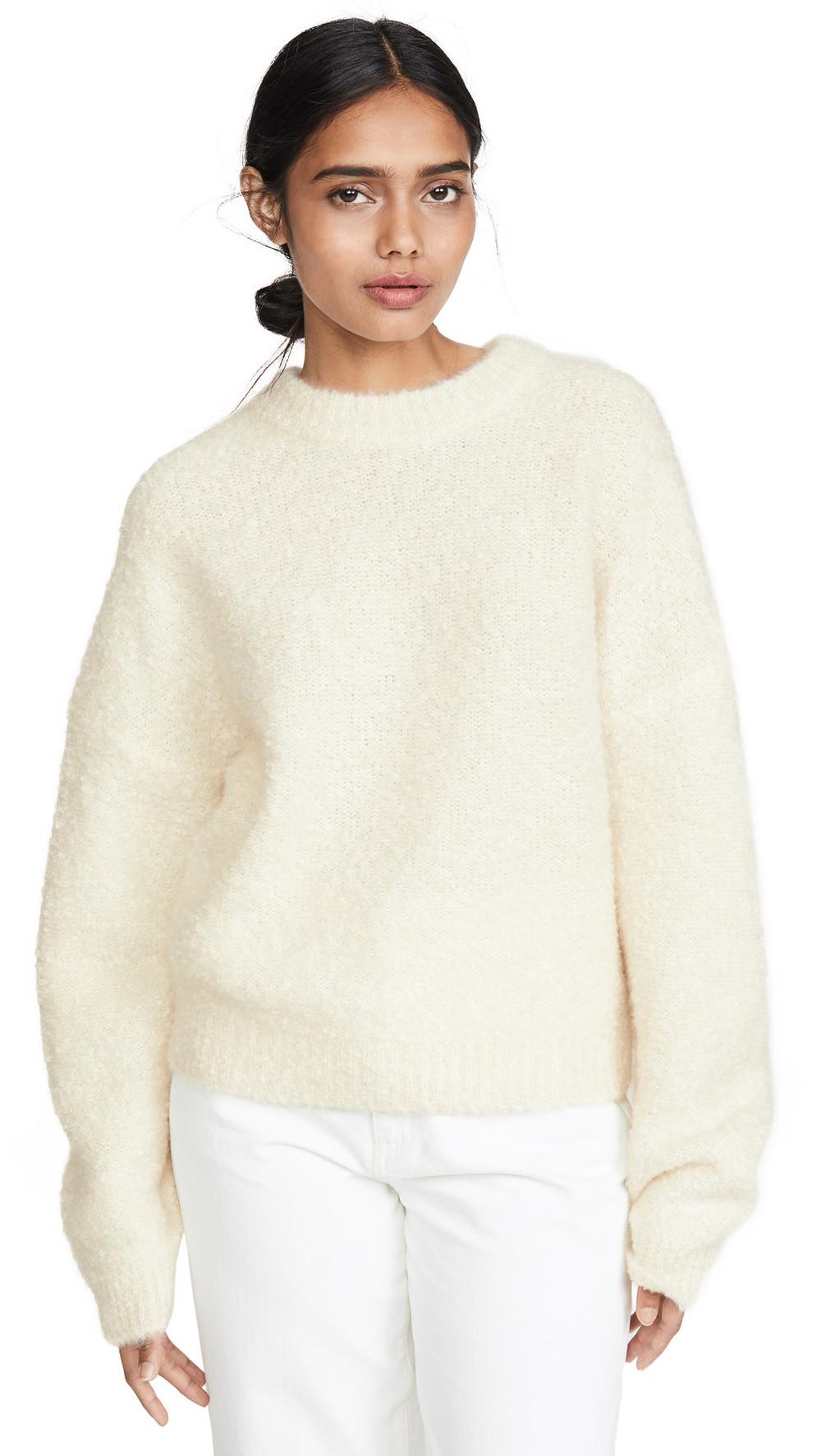Le Kasha Baden Fuzzy Cashmere Sweater in beige