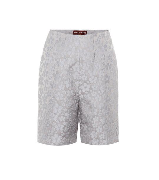 AlexaChung High-rise jacquard shorts in blue