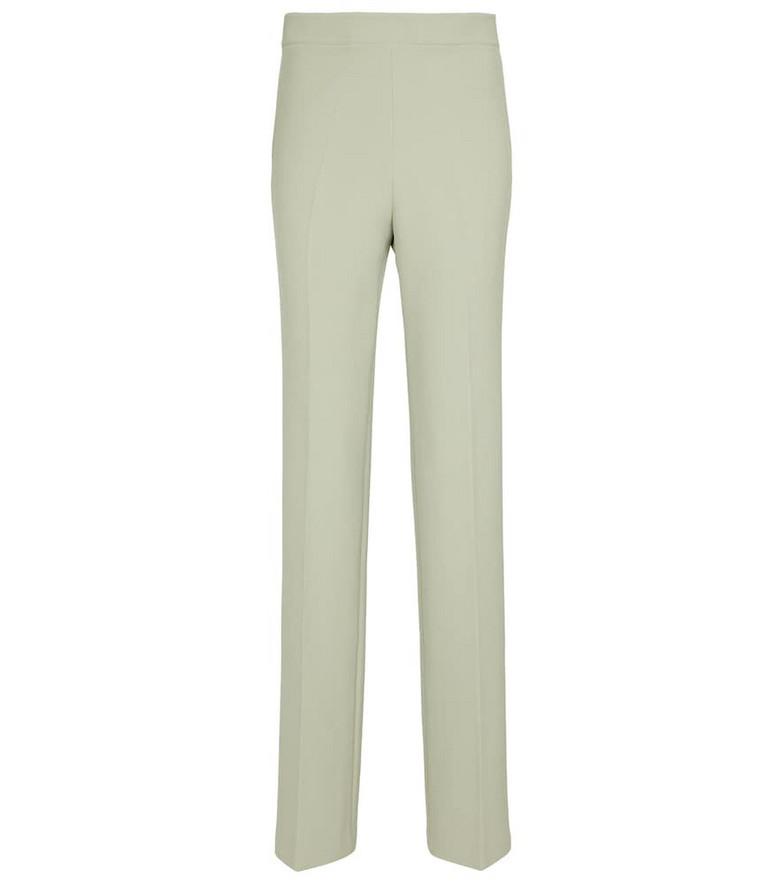 Safiyaa Goldie high-rise straight crêpe pants in green