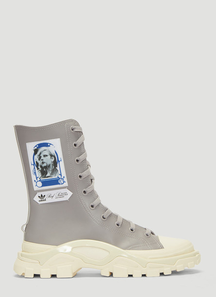 Adidas By Raf Simons Detroit Boot Sneakers in Grey size UK - 10.5