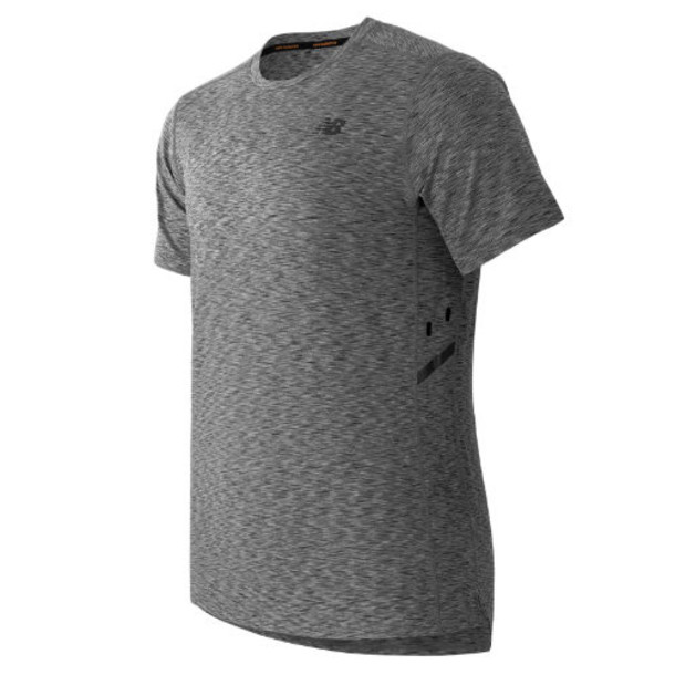 New Balance 61032 Men's Max Speed Short Sleeve Top - Heather Grey (MT61032HGR)