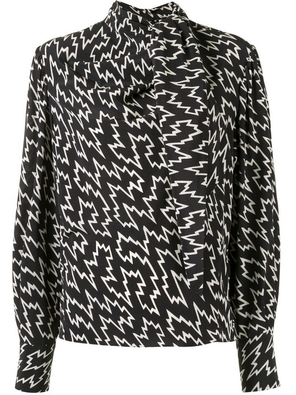 Isabel Marant graphic-print blouse in black