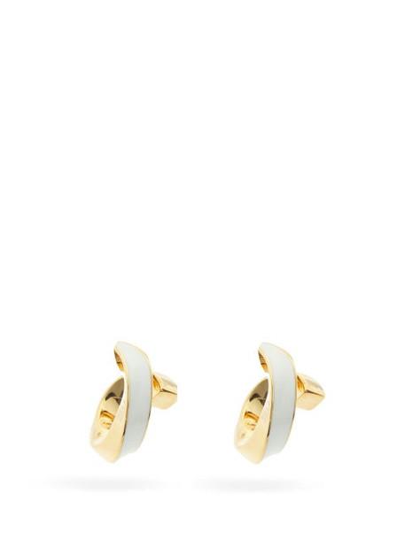 Bottega Veneta - Twisted 18kt Gold-plated Silver Earrings - Womens - Gold Multi