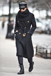 coat,winter outfits,streetstyle,irina shayk,model off-duty,all black everything