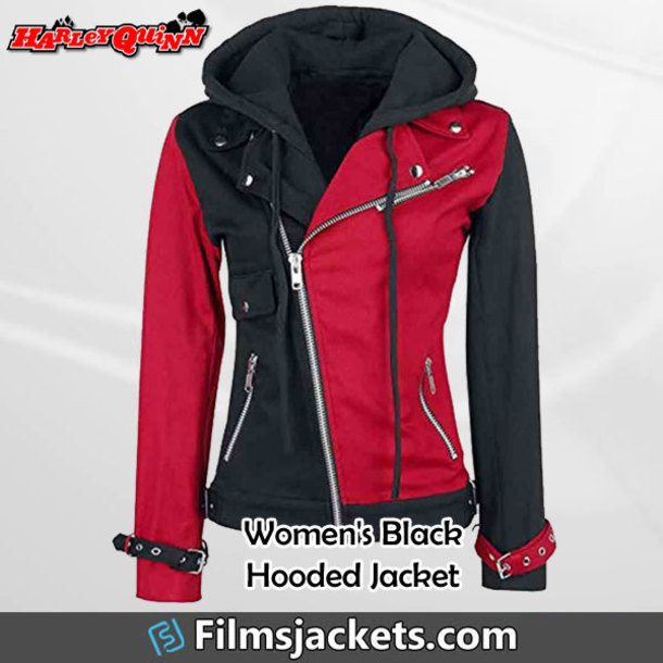 coat women's harley quinn jacket jacket hoodie fashion outfit style womenswear lifestyle womens fashion women's outfit