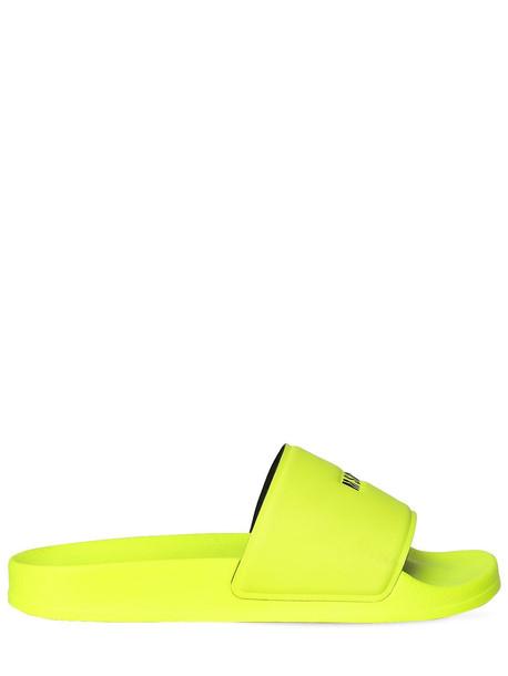 MSGM 20mm Neoprene Slide Sandals in yellow