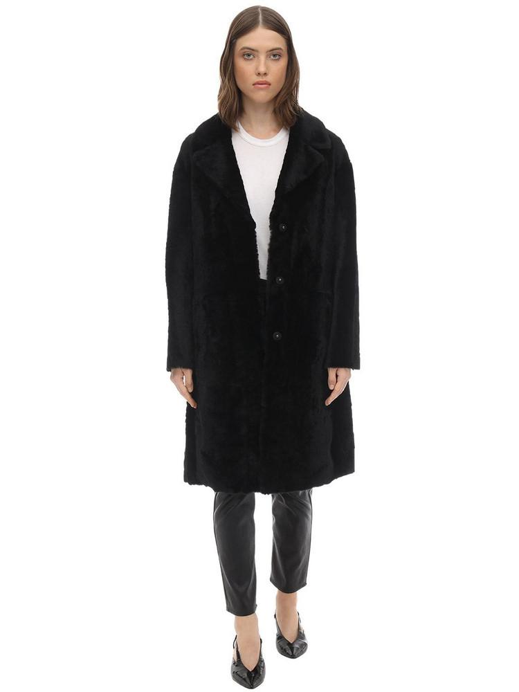 DROME Merinillo Superlight Reversible Coat in black