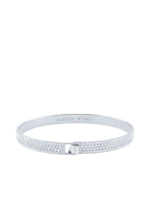 Alessa 18kt white gold diamond pavé Spectrum bracelet in silver