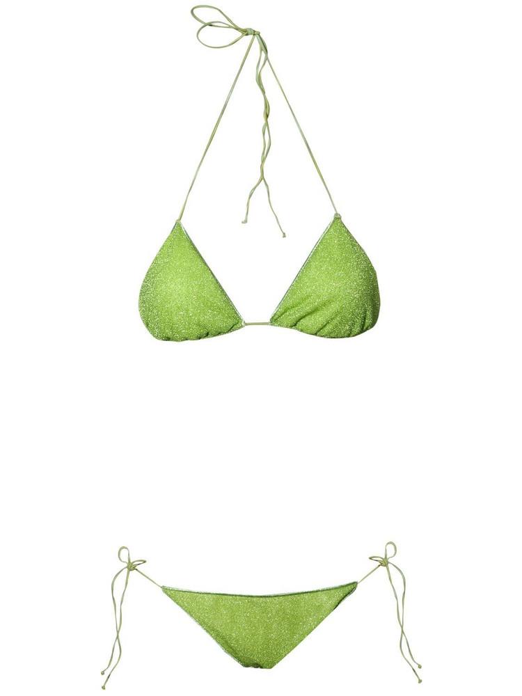 OSÉREE SWIMWEAR Lumière Lurex Triangle Bikini in green