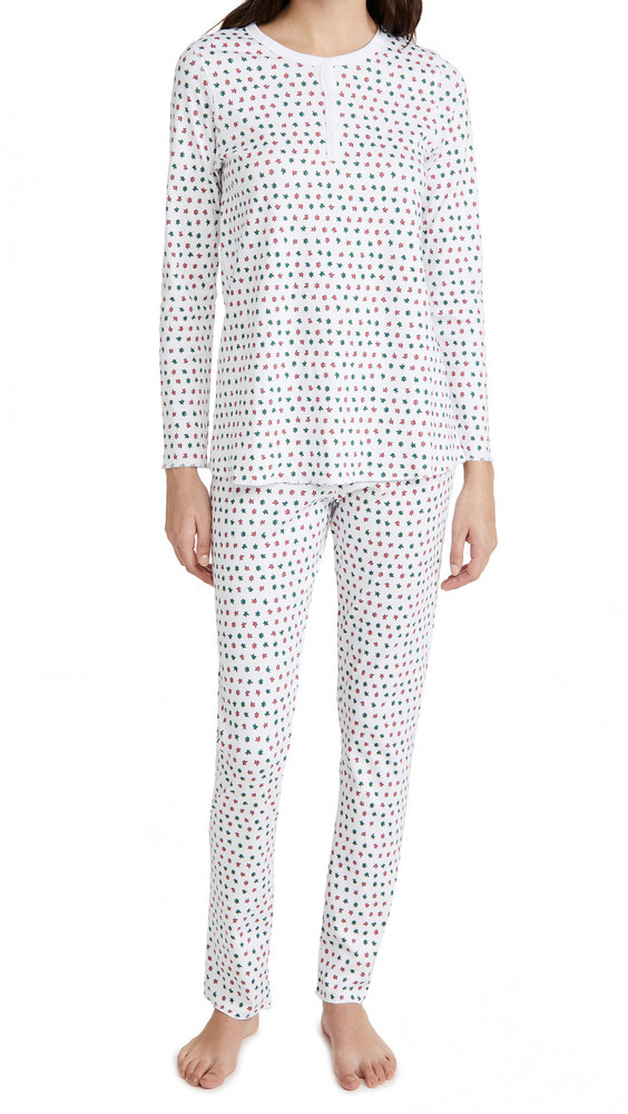 Roller Rabbit Starry Night Pajama Set in white