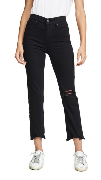 Levi's 724 Straight Crop Jeans in black