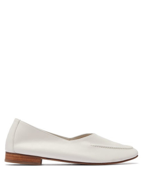 Hereu - Juliol Leather Loafers - Womens - White