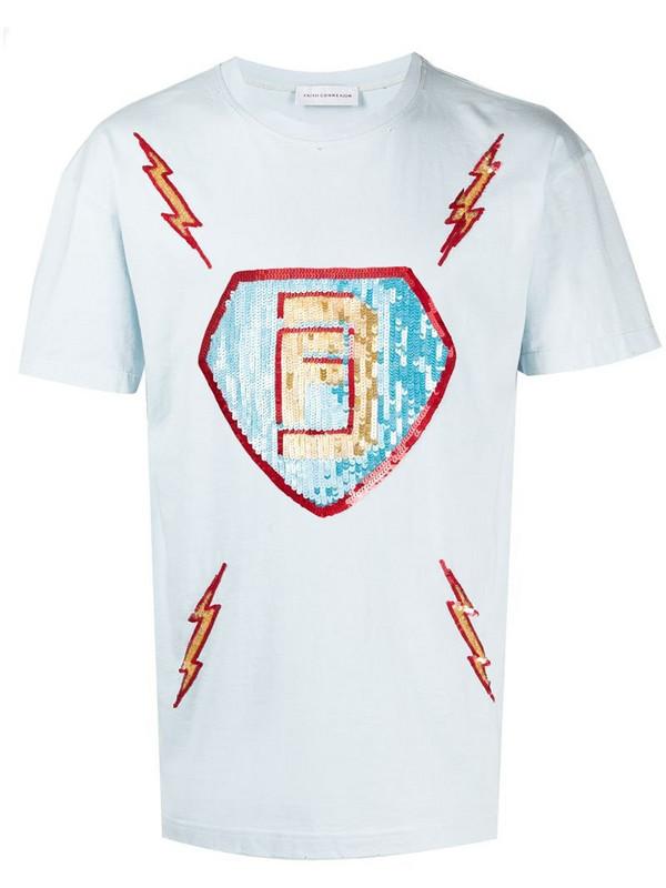 Faith Connexion sequin flash T-shirt in blue