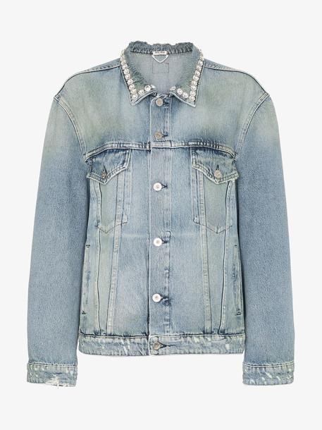 Miu Miu diamanté embellished denim jacket