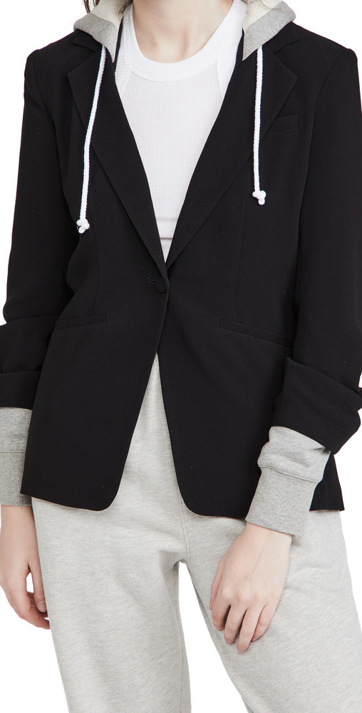 Cinq a Sept Hooded Khloe Jacket in black / grey