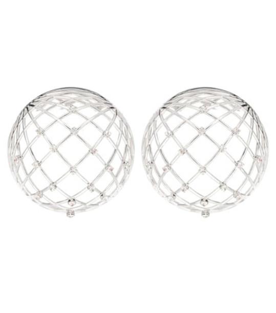 Y/PROJECT Globe crystal-embellished earrings in silver