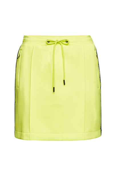 Kenzo Logo Mini Skirt with Cotton  in yellow