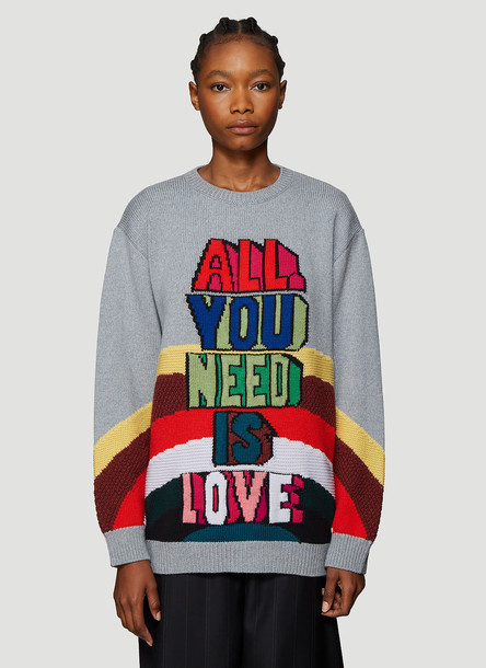 Stella McCartney The Beatles All Together Now Knit Sweater in Grey size IT - 38
