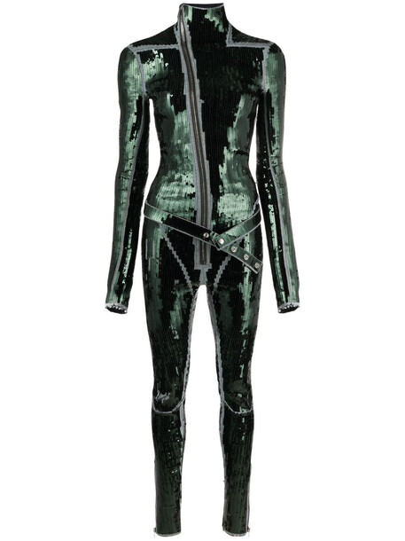 Rick Owens Gary sequin-embellished jumpsuit - Green