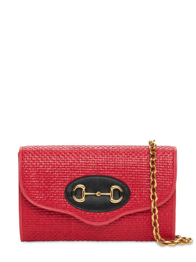 Sm Gucci 1955 Horsebit Shoulder Bag in coral