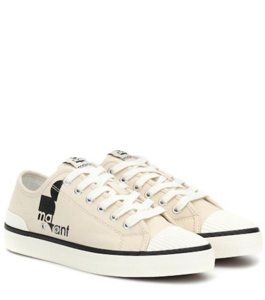 Isabel Marant Binkoo low-top canvas sneakers in beige