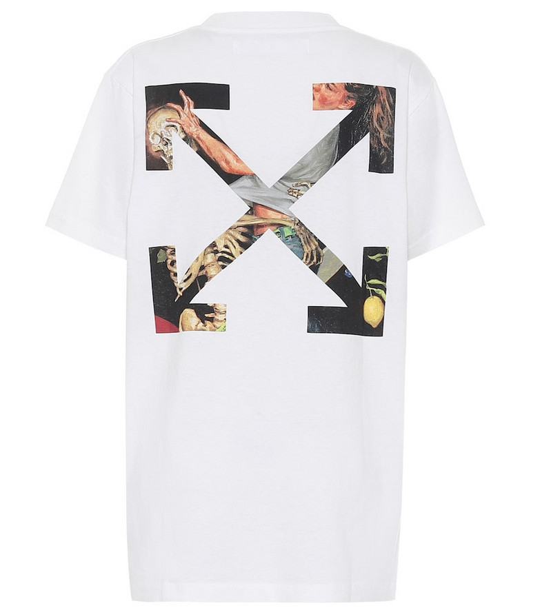 Off-White Logo cotton-jersey T-shirt in white