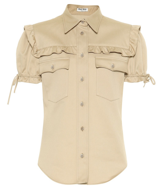 Miu Miu Cotton shirt in beige
