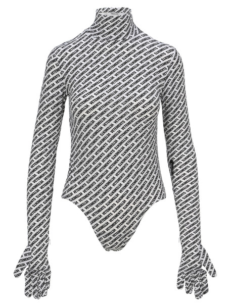 Vetements Bodysuit With Gloves in white