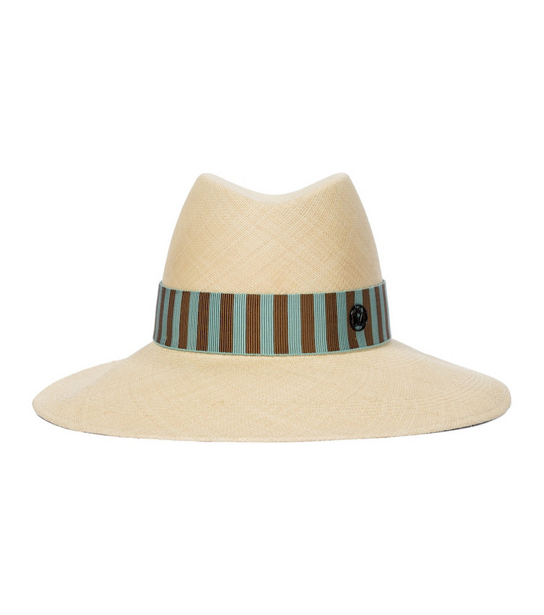 Maison Michel Kate straw hat in beige