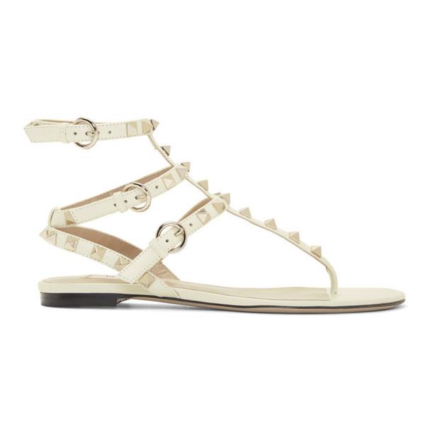 Valentino Off-White Valentino Garavani Rockstud Caged Sandals