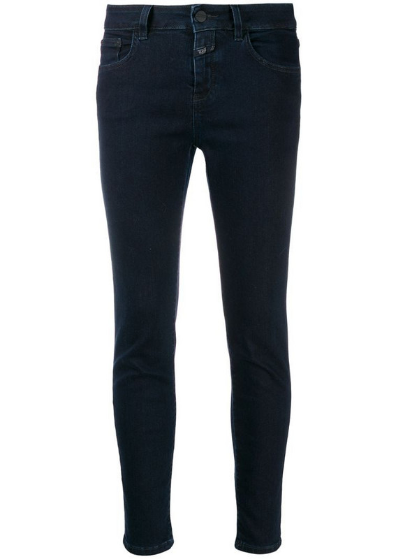 Closed cropped skinny jeans in blue
