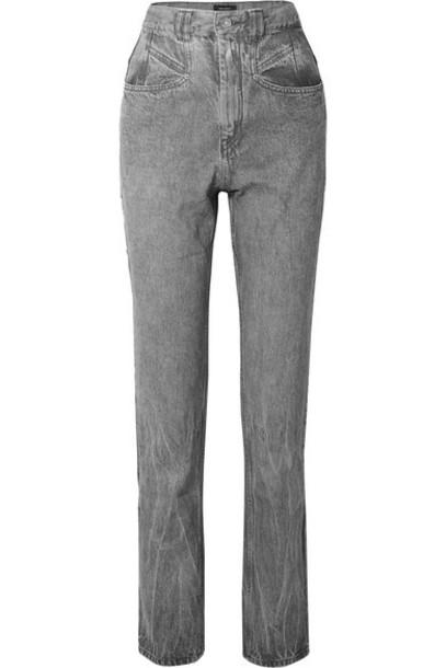 Isabel Marant - Dominic High-rise Slim-leg Jeans - Light gray