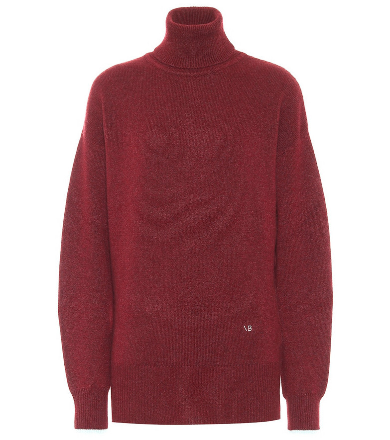 Victoria Beckham Cashmere turtleneck sweater in red