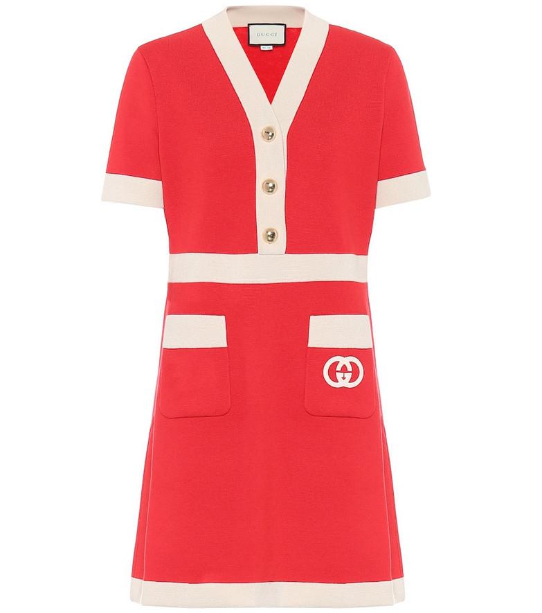 Gucci Wool minidress in red