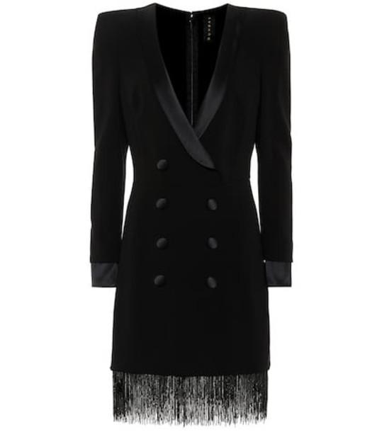 Dundas Tuxedo minidress in black