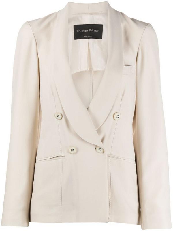Christian Pellizzari double-breasted tailored blazer in neutrals