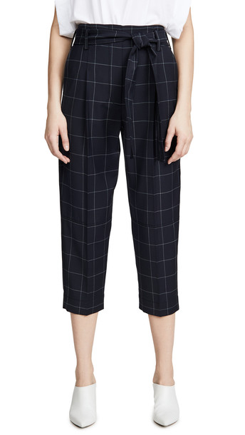 3.1 Phillip Lim Windowpane Pants in midnight / grey
