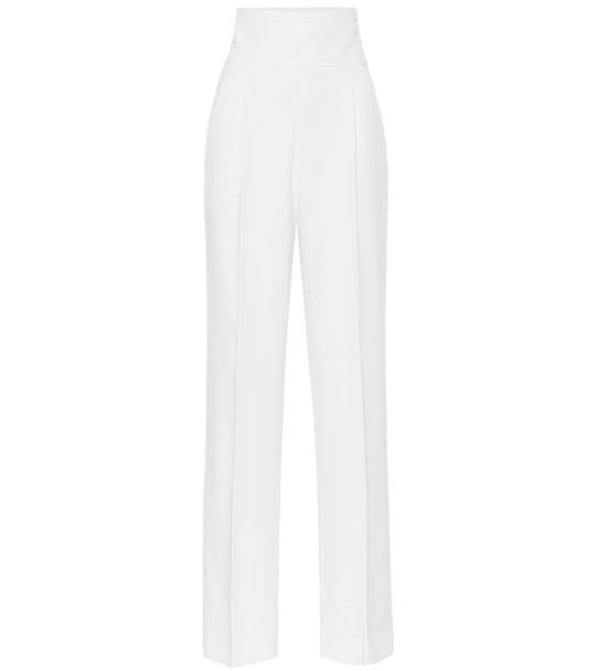 Khaite Blaine high-rise wide-leg pants in white