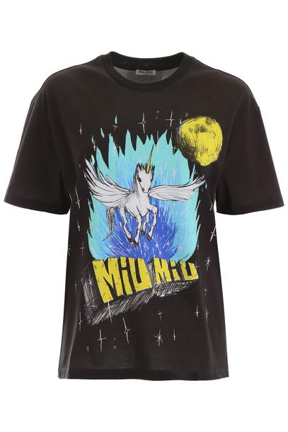 Miu Miu Eri Wakiyama T-shirt in black