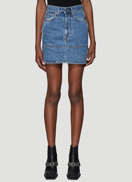 Helmut Lang Denim Skirt in Blue size 28
