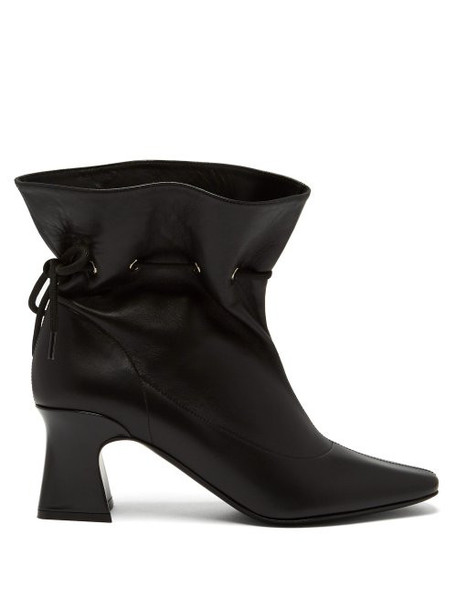 Fabrizio Viti - Garrett Drawstring Leather Ankle Boots - Womens - Black